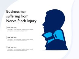 Businessman Suffering From Nerve Pinch Injury