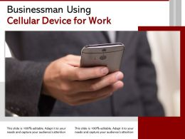 Businessman Using Cellular Device For Work
