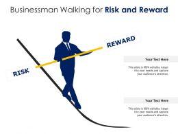 Businessman Walking For Risk And Reward