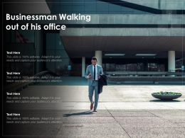 Businessman Walking Out Of His Office
