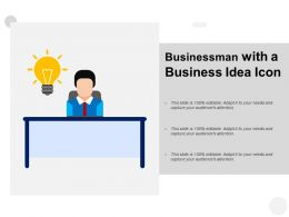Businessman With A Business Idea Icon