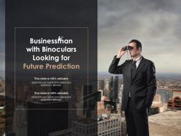 Businessman With Binoculars Looking For Future Prediction