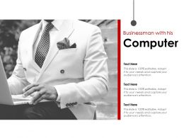 Businessman With His Computer