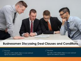 Businessmen Discussing Deal Clauses And Conditions