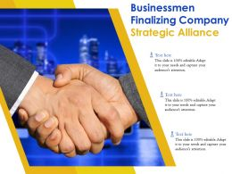 Businessmen Finalizing Company Strategic Alliance