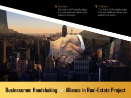 Businessmen Handshaking For Alliance In Real Estate Project