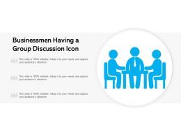 Businessmen Having A Group Discussion Icon