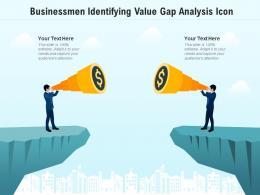 Businessmen Identifying Value Gap Analysis Icon