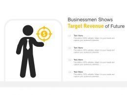 Businessmen Shows Target Revenue Of Future