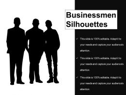 Businessmen Silhouettes Example Of Ppt