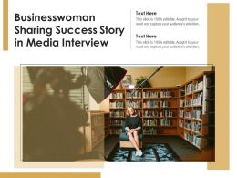 Businesswoman Sharing Success Story In Media Interview