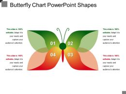 Butterfly Chart Powerpoint Shapes