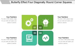 Butterfly Effect Four Diagonally Round Corner Squares