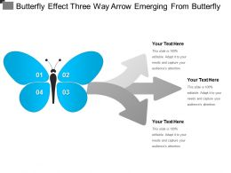 Butterfly Effect Three Way Arrow Emerging From Butterfly