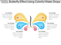 Butterfly Effect Using Colorful Water Drops
