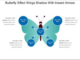 Butterfly Effect Wings Shadow With Inward Arrows