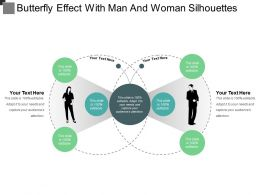 Butterfly Effect With Man And Woman Silhouettes