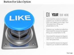 Button For Like Option Image Graphics For Powerpoint