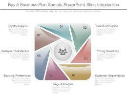 Buy A Business Plan Sample Powerpoint Slide Introduction