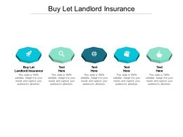 Buy Let Landlord Insurance Ppt Powerpoint Presentation Icon Format Cpb