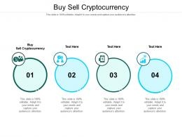 Buy Sell Cryptocurrency Ppt Powerpoint Presentation Professional Smartart Cpb