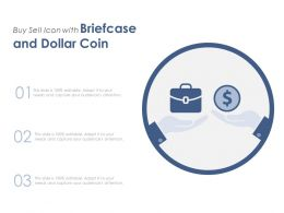 Buy Sell Icon With Briefcase And Dollar Coin