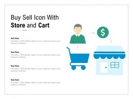 Buy Sell Icon With Store And Cart