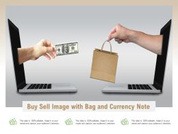 Buy Sell Image With Bag And Currency Note