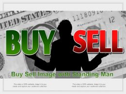 Buy Sell Image With Standing Man
