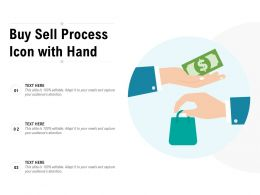 Buy Sell Process Icon With Hand