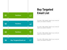 Buy Targeted Email List Ppt Powerpoint Presentation Infographics Guide Cpb
