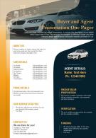 Buyer And Agent Presentation One Pager Presentation Report Infographic PPT PDF Document