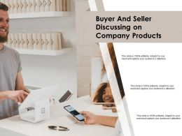 Buyer And Seller Discussing On Company Products