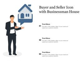 Buyer And Seller Icon With Businessman House