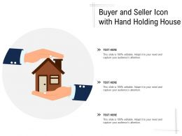 Buyer And Seller Icon With Hand Holding House