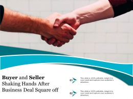 Buyer And Seller Shaking Hands After Business Deal Square Off