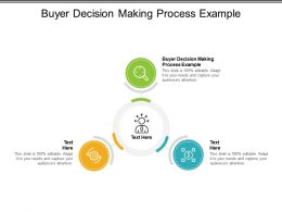 Buyer Decision Making Process Example Ppt Powerpoint Model Guidelines Cpb