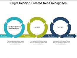Buyer Decision Process Need Recognition Ppt Powerpoint Presentation Inspiration Cpb