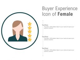 Buyer Experience Icon Of Female