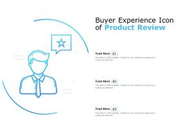 Buyer Experience Icon Of Product Review