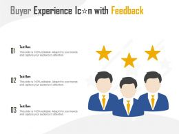 Buyer Experience Icon With Feedback