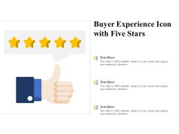 Buyer Experience Icon With Five Stars