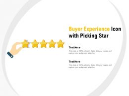 Buyer Experience Icon With Picking Star