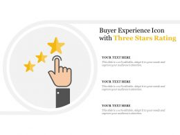 Buyer Experience Icon With Three Stars Rating