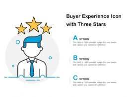 Buyer Experience Icon With Three Stars