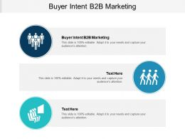 Buyer Intent B2B Marketing Ppt Powerpoint Presentation Infographic Template Slide Portrait Cpb