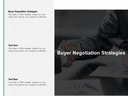 Buyer Negotiation Strategies Ppt Powerpoint Presentation Model Background Cpb