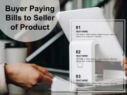 Buyer Paying Bills To Seller Of Product