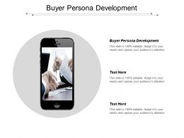 Buyer Persona Development Ppt Powerpoint Presentation Pictures Graphics Cpb