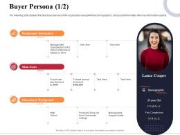 Buyer Persona Educational Marketing And Business Development Action Plan Ppt Designs